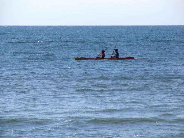 Kayakers on waters off Cape San Blas