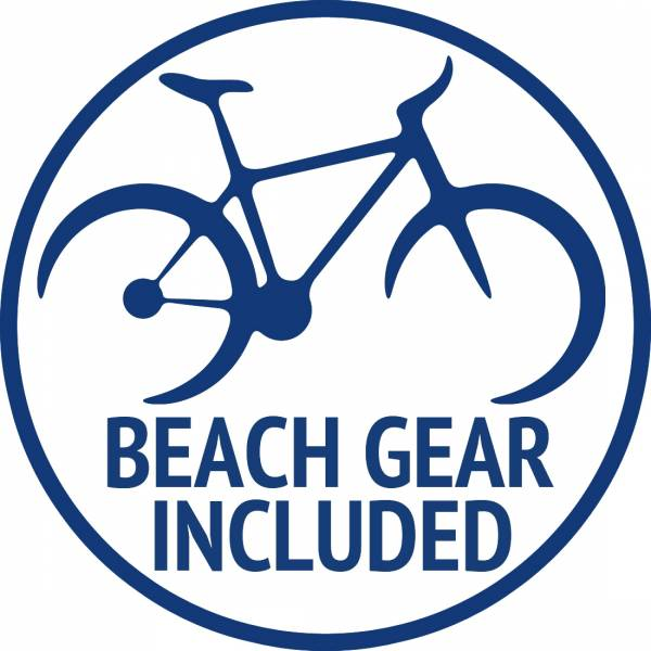 Beach gear included with rental
